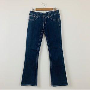 Miss Me Embellished Flap Pocket Boot Cut Jeans 29